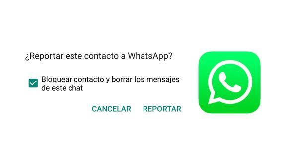 ¿Quieres saber lo que ocurre si reportas a una persona en WhatsApp? Entérate lo que hace la aplicación. (Foto: Captura)