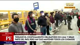 Autoridades controlan el paradero de Puente Nuevo luego de largas colas