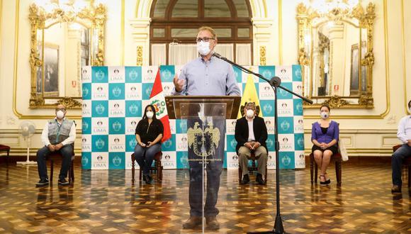 Jorge Muñoz propuso nuevas estrategias para frenar al COVID-19. (Foto: Municipalidad de Lima)