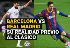Barcelona vs. Real Madrid: un clásico sin público y con realidades distintas