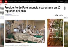 Cómo informan los medios internacionales sobre la nueva cuarentena por coronavirus en el Perú   FOTOS