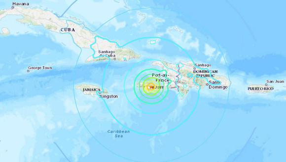 Decretan alerta de tsunami en las costas de Haití por el terremoto de magnitud 7,2. (USGS).