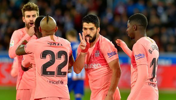 Barcelona venció al Alavés de visita y podría consagrase campeón de la Liga este miércoles. (Foto: AFP)