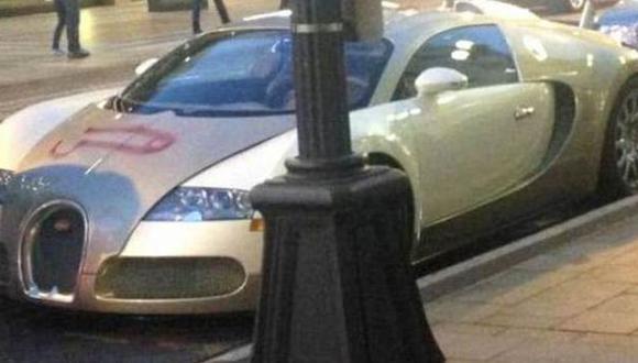 """Twitter: grafiti """"más caro del mundo"""" está en un Bugatti Veyron"""