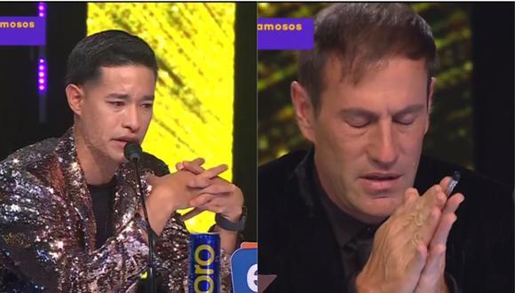 Mauri Stern y Tony Succar se emocionaron con interpretación de Shantall Oneto junto a imitadora de Amy Winehouse. (Foto: Captura Latina)