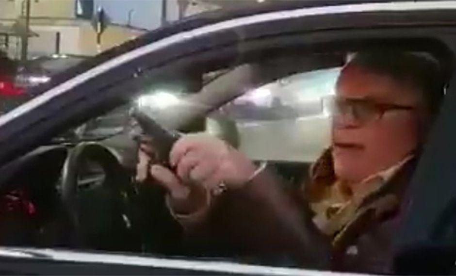 Manuel Liendo Rázuri amenazó con una pistola a un conductor en San Isidro. (Foto: Difusión)