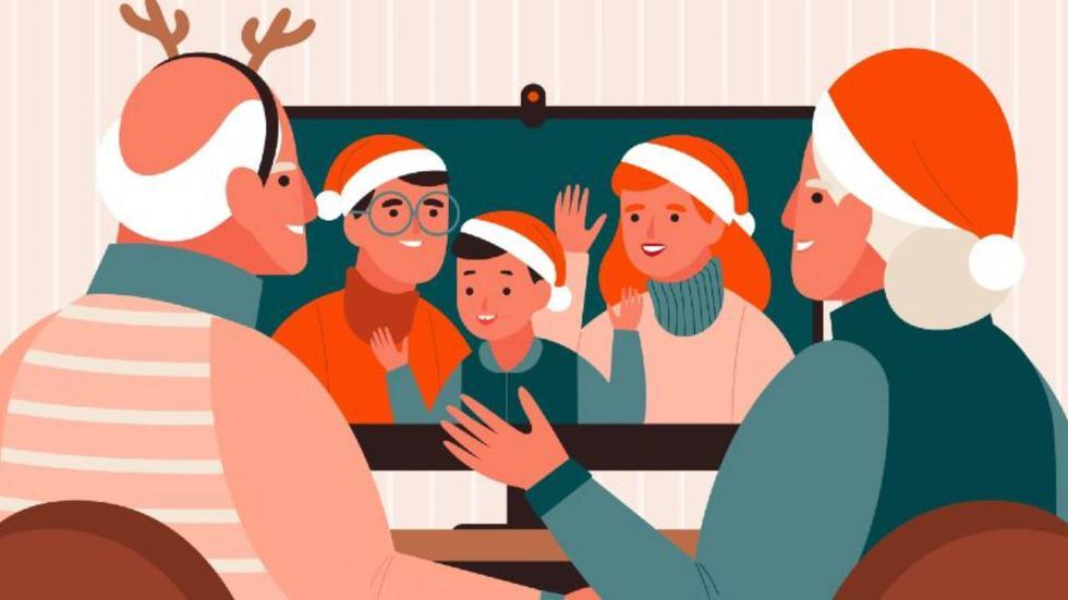 En estas fiestas de fin de año, amigos y familiares se reunirán por videollamada. Conoce aquí cómo obtener los mejores fondos y así tener la reunión virtual más navideña de todas.