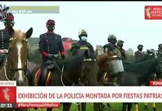 Policía Montada realiza exhibición por el Bicentenario del Perú