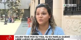 Mujer denuncia que ex pareja quedó libre tras agredirla brutalmente