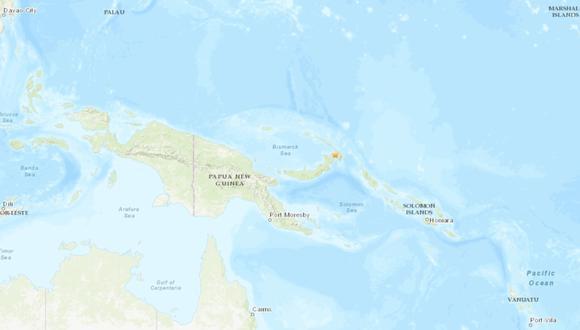Terremoto de  7,7 en Papúa Nueva Guinea. Foto: Captura