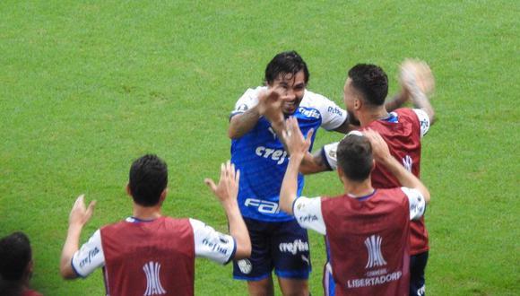 Diez minutos después de iniciado el segundo tiempo, Palmeiras encontró otro gol de cabeza ante Melgar. El autor de la conquista fue Ricardo Goulart. (Foto: Globoesporte)