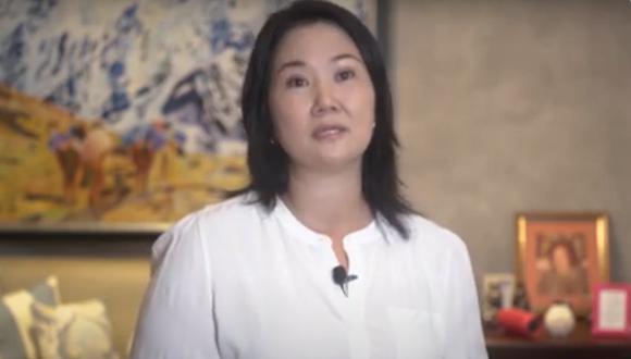 Keiko Fujimori, candidata presidencial por Fuerza Popular, presentó cuatro propuestas al gobierno para combatir la segunda ola de COVID-19. (Captura video)