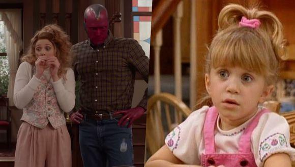 """""""Wandavision"""" es protagonizada por Elizabeth Olsen, hermana menor de las gemelas Olsen de """"Tres por tres"""". Fotos: Disney/ ABC."""