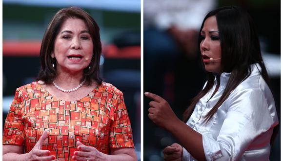 Cecilia García se enfrascó en una discusión con Martha Chávez por nueva Ley de Promoción Agraria. (Foto: Andina)