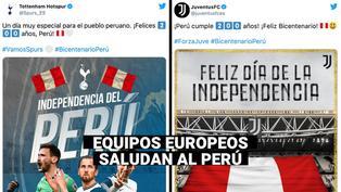 Equipos de fútbol celebran el Bicentenario del Perú