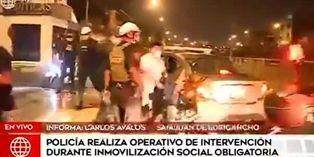 Coronavirus en Perú: Policía interviene ciudadanos en San Juan de Luriganho durante el toque de queda