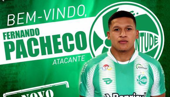 Fernando Pacheco se fue a préstamo a Juventude. (Foto: Juventude)