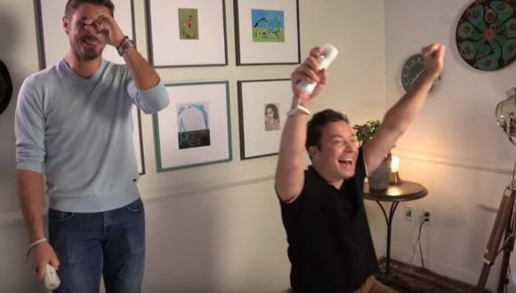 Jimmy Fallon humilló a Wawrinka en tenis de Nintendo Wii