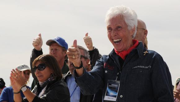 Wally Funk se convertirá en la persona de mayor edad en volar al espacio. (Foto: MARK RALSTON / AFP)