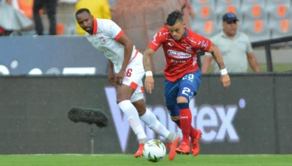 Santa Fe vs. DIM por la fecha 9 de la Liga Águila en el estadio Atanasio Girardot de Medellín. El 'Matador' se llevó la victoria gracias al gol de Germán Cano. (Foto: Balón Dividido).
