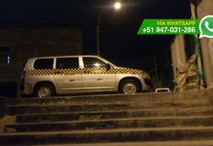 Chorrillos: autos estacionan en escalera y bloquean su salida