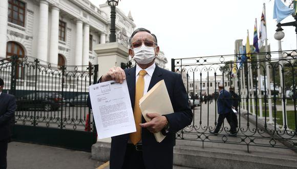 """Edgar Alarcón calificó como un """"refrito"""" la denuncia que presentó la fiscal de la Nación, Zoraida Ávalos. (Foto: Jesús Saucedo/GEC)"""