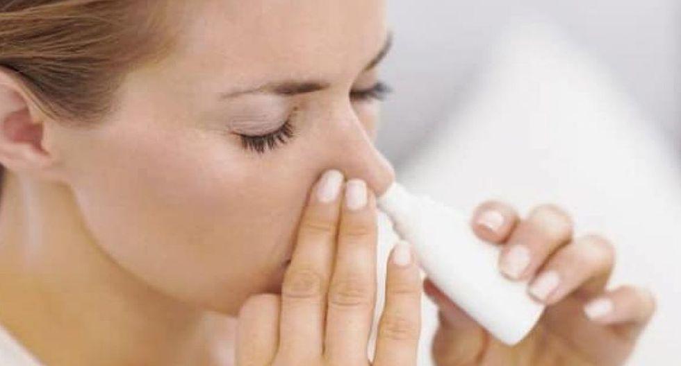 Usar soluciones salinas en la nariz previene el contagio. (Foto: Twitter)