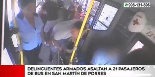 SMP: delincuentes armados ingresan a bus y asaltan a pasajeros