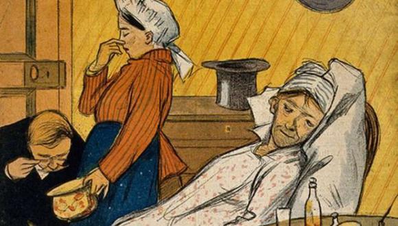 Examinando excrementos, sin aparatos raros: para eso están los ojos y la nariz. (Foto: Wellcome Collection)