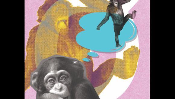 """""""Cuando nos acercamos a los chimpancés, Julieta se mostró curiosa por la forma hosca en que los primates adultos actuaban con sus crías"""". Lee la columna de Renato Cisneros. (Ilustración: Kelly Villarreal)"""