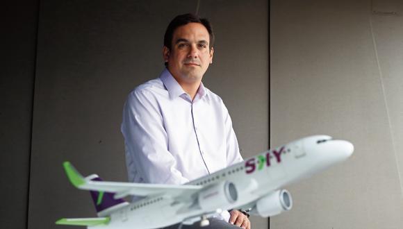 """José Raúl Vargas espera que Sky Airline Perú se consolide como un """"sólido segundo"""" en el ránking de las aerolíneas que más pasajeros transportan a nivel doméstico, este año y, sobre todo, el próximo."""