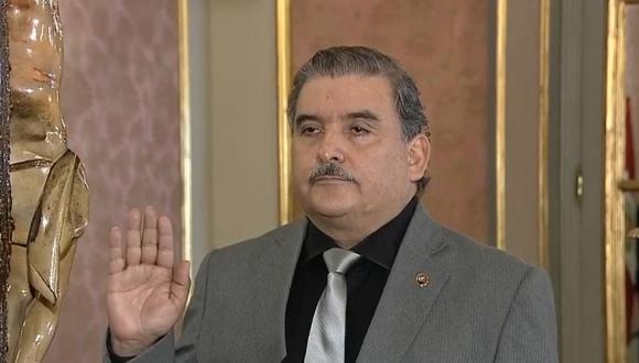 Cluber Aliaga estuvo solo cinco días en el cargo de ministro del Interior (Foto: Captura de pantalla)