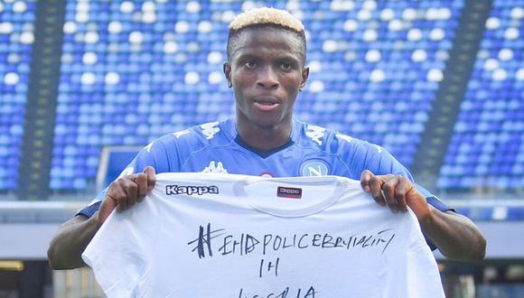 Victor Osimhem dio positivo tras su viaje a Nigeria por Navidad. (Foto: AFP)