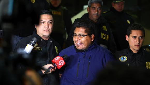 Gobernador regional de Puno fue detenido en la tarde del domingo. Walter Aduviri se encontraba en un hostal de La Victoria. (Foto: GEC)