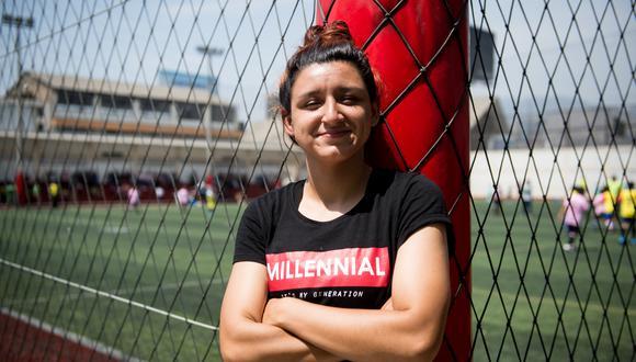 Cindy Novoa y un récord: jugar en la 'U' y en Alianza versión femenina. FOTO: GEC.