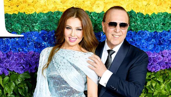 """Thalía y Tommy Mottola mantienen una relación de más de 20 años y la cantante sabe que el secreto está en """"amarnos y respetarnos como somos"""". (Foto: Getty Images)"""