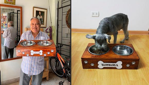 """Jubilado y ex sindicalista, Hernán Gamboa es el fundador de """"El Taller del Abuelo"""", un emprendimiento en el que refleja su amor por los animales."""