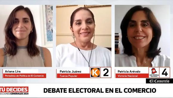 #TúDecides Candidatas Patricia Juárez y Patricia Arévalo debatieron en El Comercio