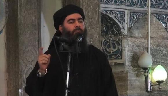 """Al Baghdadi anunció la creación de un """"califato"""" en 2014. Foto: AFP"""