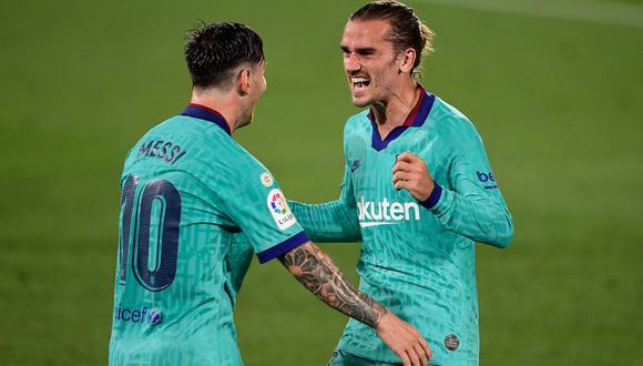 Griezmann y Messi comandan el ataque del Barcelona. (Foto: AFP / JOSE JORDAN)