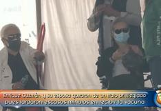 Enrique Guzmán recibió la segunda dosis de la vacuna en medio de su querella pública con su nieta Frida Sofía