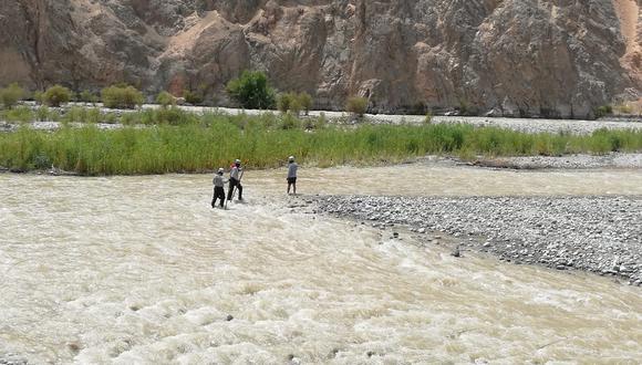El cadáver fue hallado sin vida a 2 kilómetros. (Foto PNP)