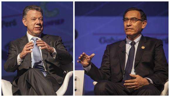 Vizcarra felicitó la gestión que desarrolló Colombia en la presidencia pro témpore de la Alianza del Pacífico, especialmente en la construcción de la Visión Estratégica 2030 de este bloque.