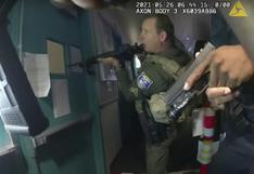 Tiroteo en California: divulgan video del momento en que los policías irrumpen en el lugar y asesino hace disparos