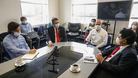 Víctor Zamora se reunió con Manuel Merino y otros miembros del Congreso. (Foto: Difusión)