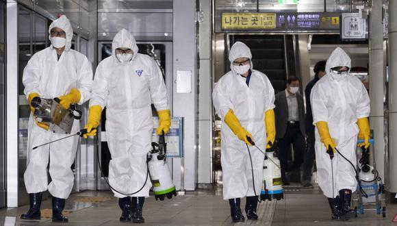 Corea del Sur es el país con más casos nuevos de coronavirus por día y el metro de Seúl es un lugar con muy alto índice de contagio. (Foto: Xinhua)