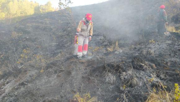 Más de 200 hectáreas de pastizales, bosques naturales y de eucaliptos, y pérdida de fauna silvestre, fue el saldo del incendio. (Foto: Municipalidad Provincial Cusco).