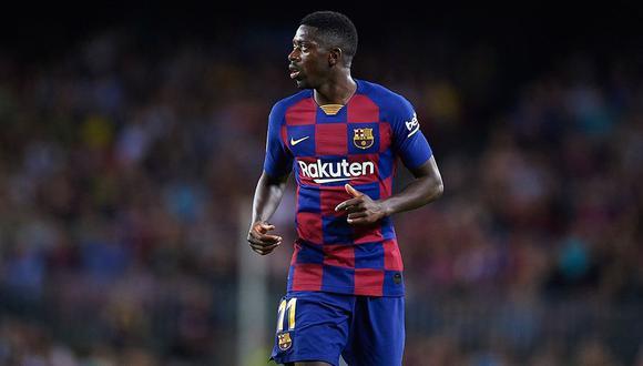 Ousmane Dembéle podría llegar al duelo contra el Napoli por la Champions League   Foto: AFP