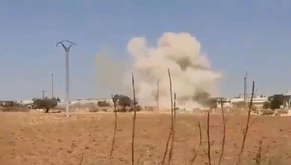 Según el Observatorio Sirio de los Derechos Humanos (OSDH) los ataques de la aviación rusa y siria tenían por objetivo impedir que el convoy turco. Foto: Captura de video