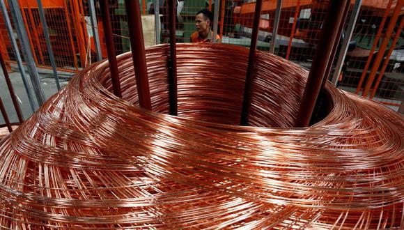 El cobre a tres meses en la Bolsa de Metales de Londres (LME) bajó un 0.2%. (Foto: Reuters)